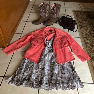 Dana Buchman XS Zip Front 4-pocket Coral Jacket
